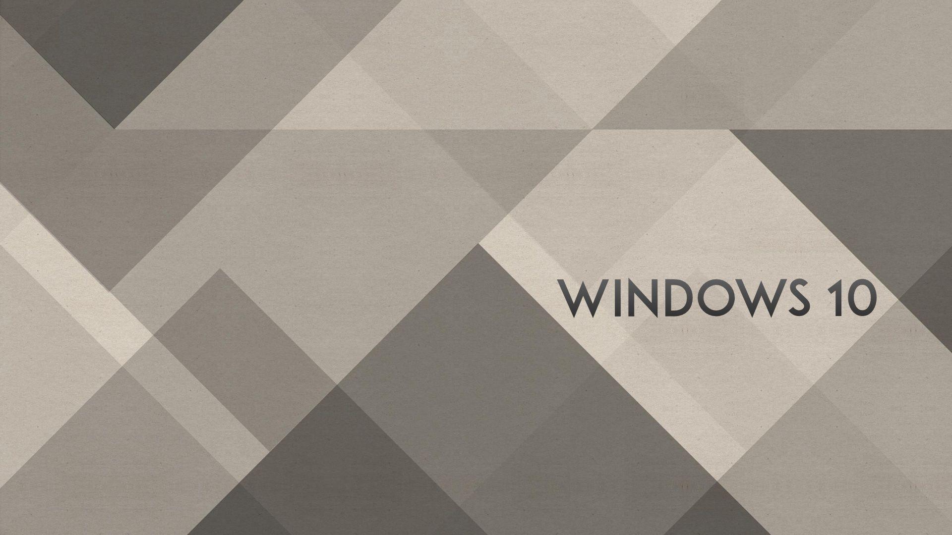Windows 10 Wallpaper 1080p Full HD Grey Abstract