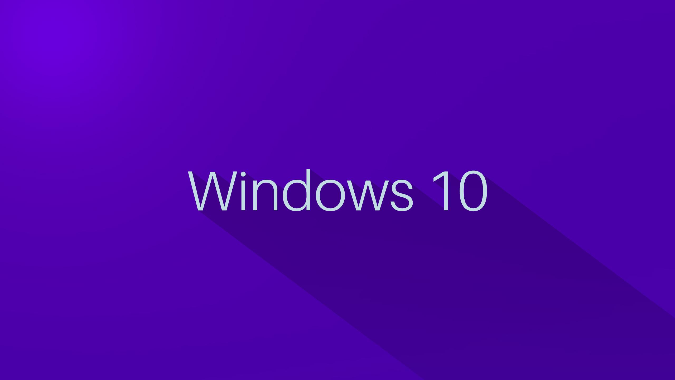 Windows 10 Wallpaper 1080p Full Hd Logo On Purple Background
