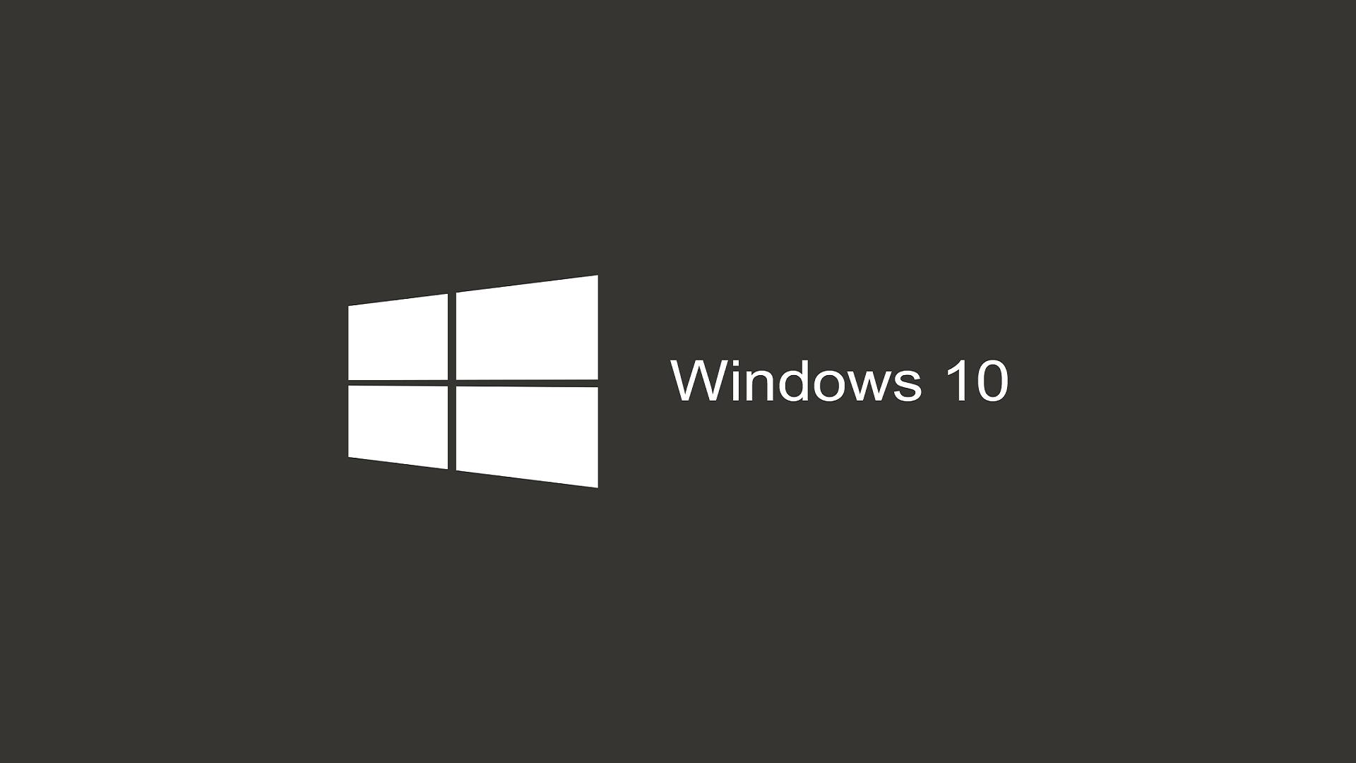 Windows 10 Wallpaper 1080p Full Hd White Logo Grey Background