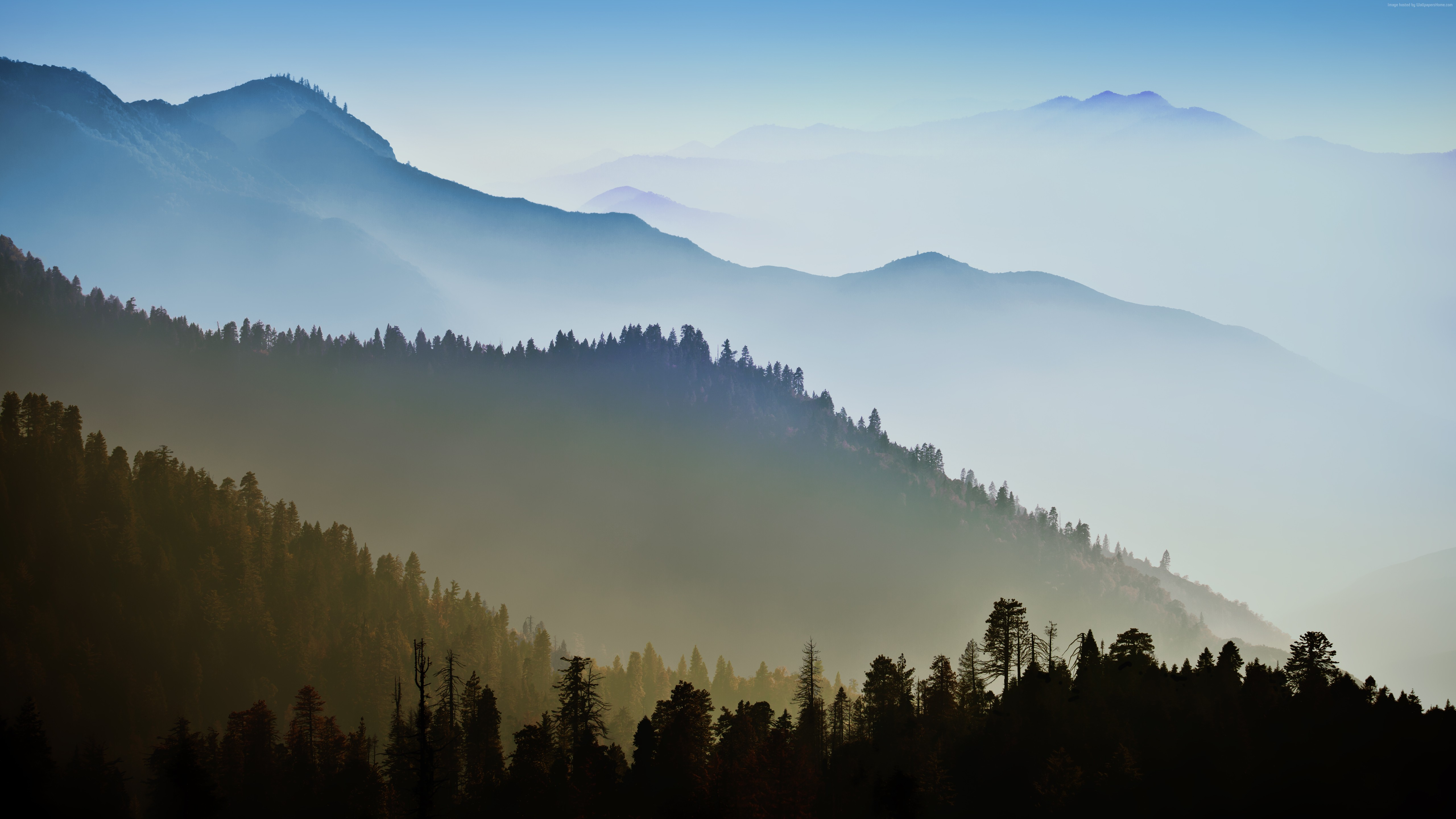 apple imac and macbook retina display wallpaper 5k smoky mountains